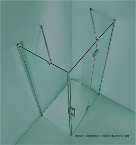 Glass Shower Door with Support Bar pictures & photos