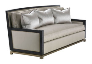 Ebony Wooden Sofa Bed for Meeting Room pictures & photos