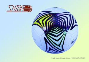Superstar Machine Stitched PVC Size 5 Cheap Soccer Ball pictures & photos