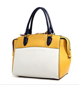 2017 New Elegant Hand Bag Contrast Color Trendy Shoulder Bag Hcy-5011 pictures & photos