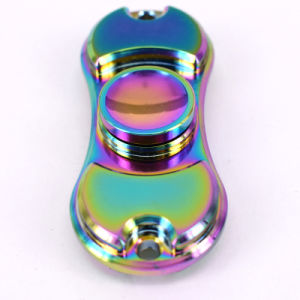 Most Popular Rainbow Color Alloy Metal Finger Hand Fidget Spinner