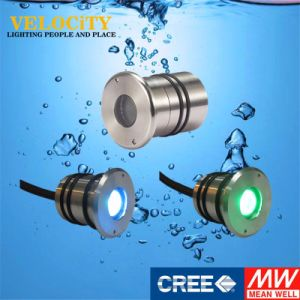 RoHS Approved High Brightness 1W Stainless Steel Underwater Lighting with Controller