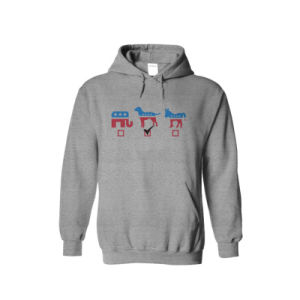 Black Cotton and Polyester Mixture Mens Hooded Sweatshirt, Pullover Sport Hoody pictures & photos