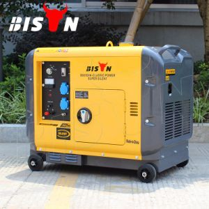 Bison 5kw 186f Engine 220V Portable Diesel Sound Proof Generator pictures & photos