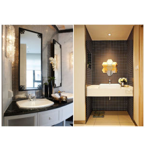Eco-Friendly Building Materials Black Bathroom Tiles Stained Glass Mosaic pictures & photos