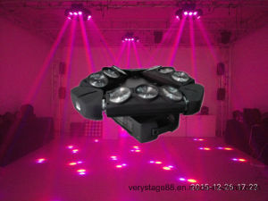 RGBW 4in1 9 Heads 10W LED Spider Moving Head Beam Light pictures & photos