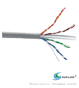 Factory Price 23AWG UTP Cat. 6 Solid Grey LAN Cable pictures & photos
