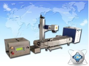 Mopa Fiber Laser Marking Engraving Equipment with Conveyer Belt for Ball Pen, Bear Bottles pictures & photos