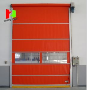 Fabric High Speed Rapid Rolling PVC Soft Fast Closing Door (Hz-FC0562) pictures & photos