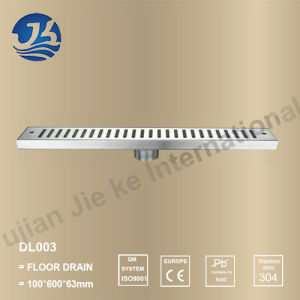 Long Stainless Steel Bathroom Hardware Floor Drain (DL003)