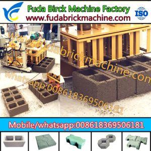 Small Mobile Hydraulic Concrete Hollow Brick Machine of Fuda Machinery pictures & photos