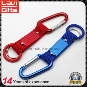 Factory Cheap Short Strap Lanyard Keychain with Carabiner pictures & photos