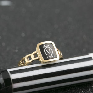 Elegant Jewelry Fashion Stainless Steel Rose Gold Alphabet Finger Ring pictures & photos
