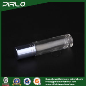 10ml Clear Glass Roll on Bottle with Metal Roller and Blue Cap pictures & photos