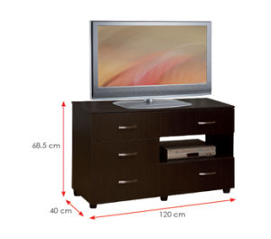 Modern MFC Laminated Wooden Cabinet TV Stands (HX-DR021) pictures & photos
