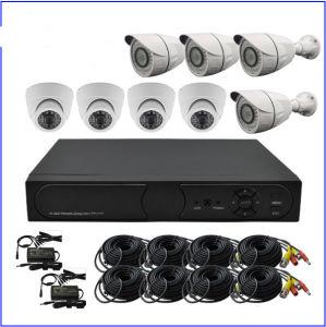 1.3MP Surveillance Camera CCTV Kits 8CH DVR with 8 IR Cameras pictures & photos