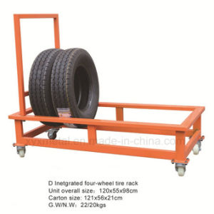 Tire Warehouse Trolley Wheels Tyre Display Cart Roll Pallet Hand Truck pictures & photos