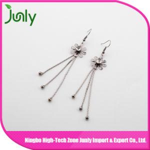 Long Hanging Chandelier Earrings Flower Silver Jewelry Earrings pictures & photos
