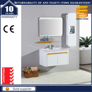 Hot Selling MDF White Lacquer Bathroom Cabinet Furniture for Hotel pictures & photos