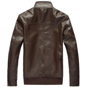 Men′s Fashion Faux PU Leather Jackets pictures & photos