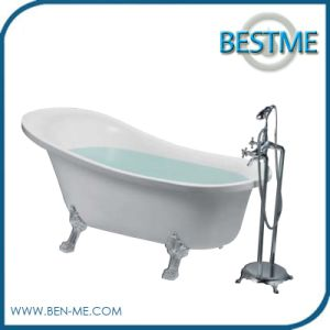 Classic Design Freestanding Acrylic Bathtub with Four Paw Feet pictures & photos
