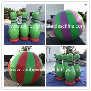 Mini Inflatable Bowling Game/Inflatable Human Running Ball Game pictures & photos