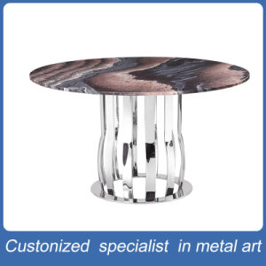 Factory Manufacture Silver Round Stainless Steel Table Furniture pictures & photos
