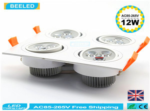 12W Warm White Square Aluminum High Power Dimmable LED Downlight pictures & photos