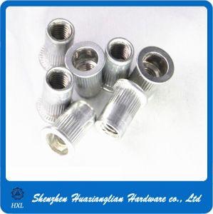 M3/M4/M5/M6/M8 Flat Head Knurled Body Aluminum Threaded Insert Rivet Nut pictures & photos