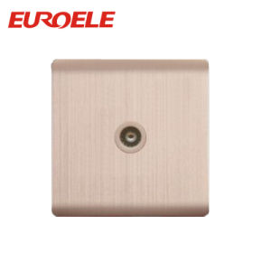 Champagne Gold Aluminum Plate Electric TV Socket/Satellite Socket pictures & photos