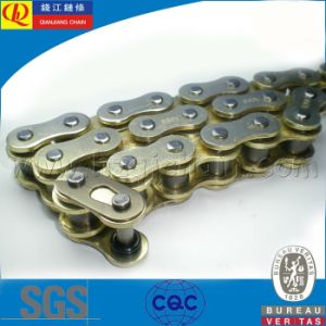 O-Ring Motorcycle Chain with Red Plates pictures & photos