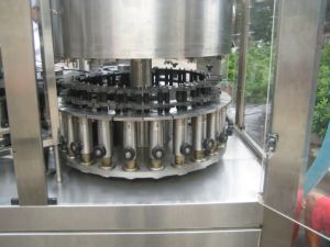 Automatic 3-in-1 Monobloc Yogurt Bottle Aluminum Foil Filling and Sealing Machine pictures & photos