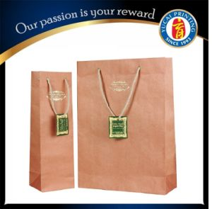 Custom Brown Kraft Paper Bag Paper Shopping Bag pictures & photos