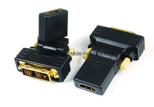 270 Degree Rotating DVI18+1 Male to HDMI Female Adapter pictures & photos