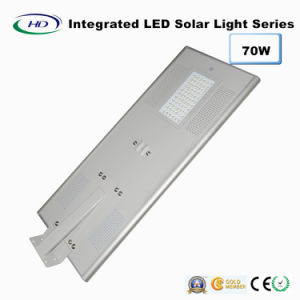 70W PIR Sensor Integrated LED Solar Street Light pictures & photos