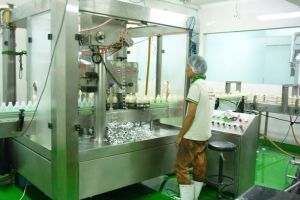 Automatic 3-in-1 Monobloc Yogurt Bottle Aluminum Foil Filling and Sealing Machine pictures & photos