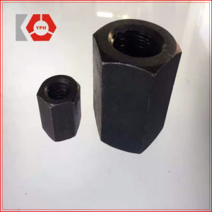 High Strength Steel Black and Zinc Plated Hex Nut DIN6334 pictures & photos