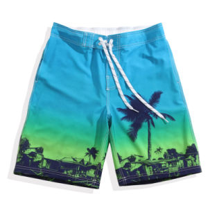 Mens Summer Floral Print Beach Shorts Surf Board Swim Shorts
