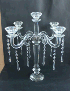 Crystal Candle Holder with Five Poster for Home Decoration pictures & photos
