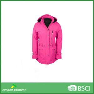 Woman Winter Coats Attractive Look MID-Length Softshell Jacket pictures & photos