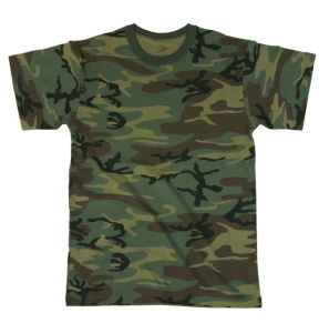 Short Sleeves Woodland Camo T-Shirt (A170) pictures & photos