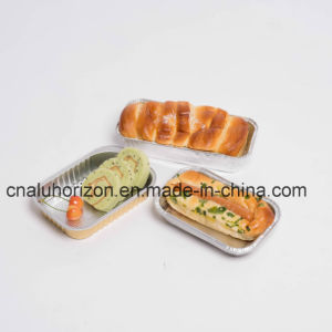 Golden Take-out Aluminum Foil Tray pictures & photos