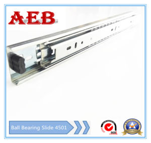 2017furniture Customized Cold Rolled Steel Three Knots Linear for Aeb4501-350mm Full Extension Ball Bearing Drawer Slide pictures & photos