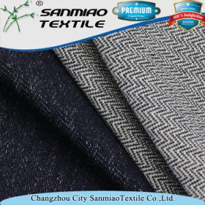 Indigo Stretch Spandex Twill Knit Denim Fabric for Garments pictures & photos