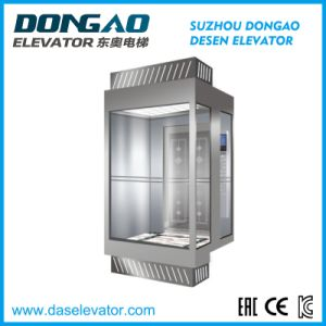 Sightseeing Passenger Elevator with Small Machine Room pictures & photos