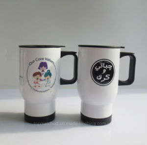 Stainless Steel Sublimation Coated Travel Coffee Mug (white) pictures & photos