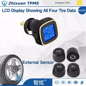 Car Cigar Lighter TPMS Tire Pressure Monitor System 4 External Sensor pictures & photos