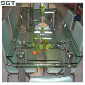 6mm Tempered Clear Float Glass for Table Usage with Round Polised Edge pictures & photos