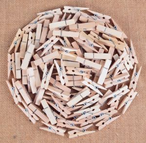Cheap Nature Color Wooden Clip Wholesale