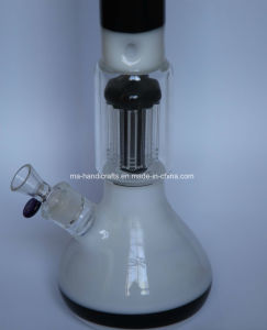 Milky White and Black Glass Smoking Pipe with Tree Perc pictures & photos